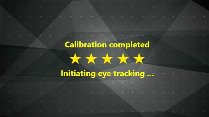 great eye tracking calibration