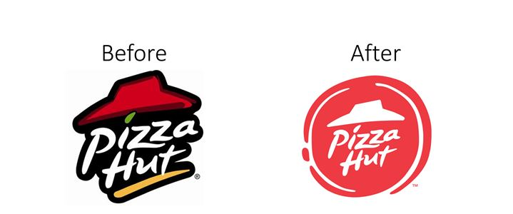 Pizza Hut logo rebranding