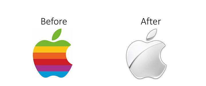 apple logo rebranding