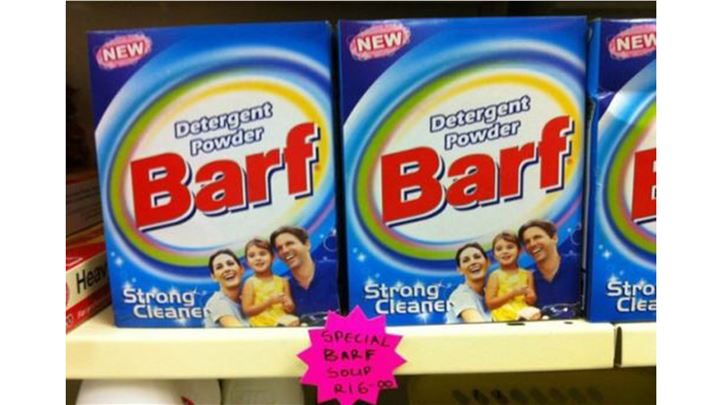 powder Barf advertising