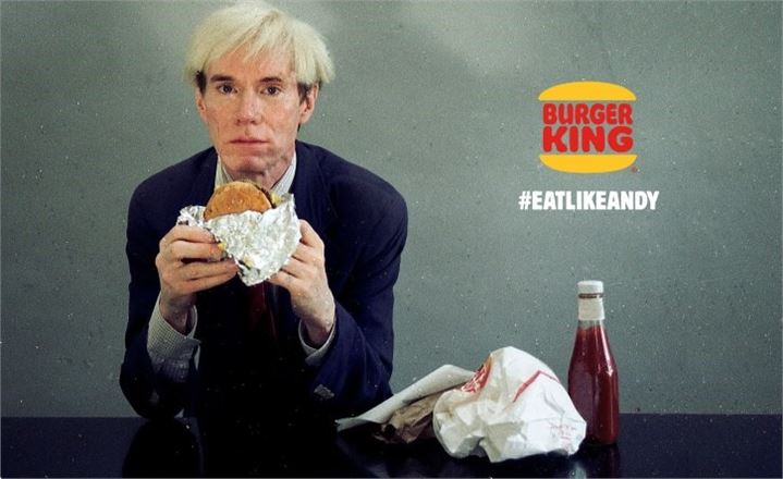 Andy Warhol for Burger King ad